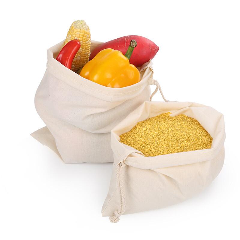 100% Organic Muslin Cotton Produce Bag